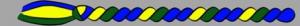 10. Corda - dunkelgrün/gelb/blau