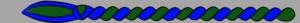9. Corda grün/blau